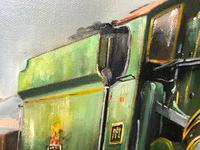Oil Painting Railway Train Engine Princess Margaret 4056 Signed Ken Allsebrook (22 of 30)