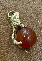 9ct Gold Charm in the Form of a Ball & Claw (2 of 3)