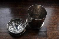 Antique Solid Silver Tea Caddy (5 of 5)