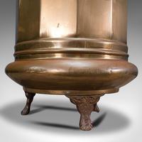 Pair of Antique Stick Stands, Brass, Umbrella Rack, Fireside Bin, Victorian (10 of 12)