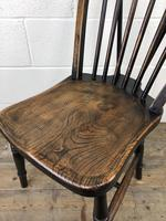 Set of Four 19th Century Ash and Elm Hoop Back Chairs (12 of 13)