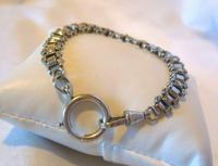 "Antique Bracelet 1890s Victorian Silver Nickel Fancy Link 7 1/2"" Length 13.6 Grams (5 of 12)"
