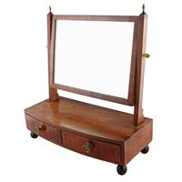 Small Regency Mahogany Dressing Mirror (7 of 8)