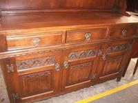 Old Charm Linenfold Lead Glazed Dresser (2 of 2)