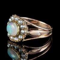 Antique Georgian Opal Pearl Ring 18ct Gold 1.50ct Natural Opal c.1830 (4 of 5)