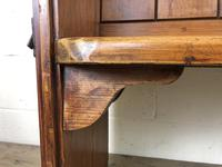 Antique Pitch Pine Chapel Pew with Shaped Sides (8 of 14)