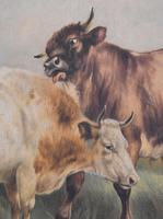 Large Oil Painting by William Perring Hollyer Titled 'Courtship' (9 of 10)