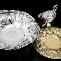 Magnificent Large Georgian Solid Silver Basket with Floral Motifs - Joseph & John Angell 1835 (41 of 55)