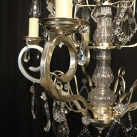 French Silver Gilded 5 Light Antique Chandelier (8 of 11)