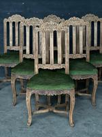 Set of 6 French Oak Farmhouse Dining Chairs (5 of 10)