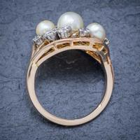 Antique Edwardian Pearl Diamond Cluster Ring 18ct Gold c.1910 (6 of 6)