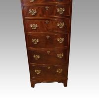 George VI Mahogany Tall Bow Chest (2 of 5)