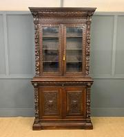 Imposing Carved Oak Bookcase (2 of 23)
