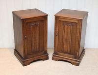 Pair of Oak Bedside Cabinets (4 of 12)