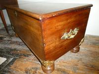 19th Century Mahogany Coffer or Blanket Chest (3 of 9)