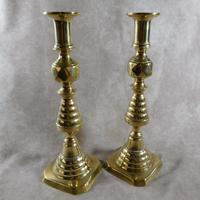 Pair of 19th Century Victorian Brass Candlesticks (5 of 5)