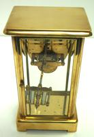 Fine Antique French Table Regulator with Visible Pendulum 8 Day 4 Glass Mantel Clock (6 of 10)