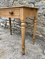Antique Pine Side Table with Drawer (8 of 14)