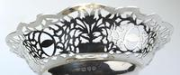 Very Fine Solid Silver Pedestal Pierced Bowl / Basket - Chester c.1937 (6 of 7)