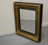 Rectangular Gilt and Black Rococo Wall Mirror (3 of 6)