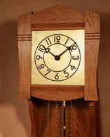 Small Very Stylish Blond Oak Wall Clock in Bauhaus Style (2 of 8)