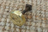 Fine Early 19th Century Brass Door Knocker Acorn in Hand Regency Period (9 of 9)