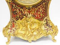 Rare Large Antique French Boulle Mantel Clock Ormolu Inlay 8 Day Mantle Clock (5 of 16)