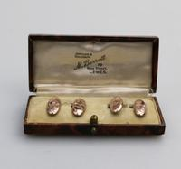 Boxed Pair of 9ct Gold Engraved Cufflinks c.1916 (2 of 8)