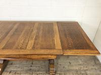 Early 20th Century Oak Draw Leaf Table (11 of 17)