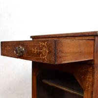 Music Cabinet Glazed Inlaid Walnut 19th Century (3 of 10)