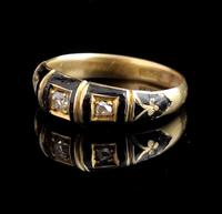 Antique Diamond Mourning Ring, 18ct Gold (2 of 9)