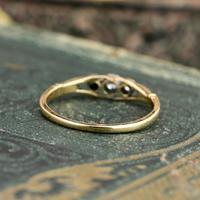 The Antique Three Diamond Bezel Set Ring (4 of 6)