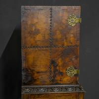 Late Victorian Leather Bound Cupboard on Stand (7 of 10)