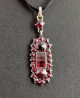 Antique Art Nouveau Bohemian Garnet Pendant (6 of 12)