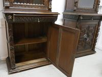 Pair of French Carved Gothic Oak Bookcases (10 of 12)