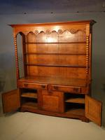 Attractive Early 20th Century Continental Oak Dresser & Rack (2 of 6)