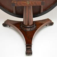 Antique William IV Rosewood Leather Top Drum, Dining or Centre Table (4 of 11)