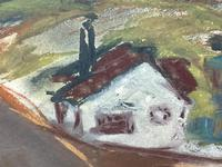 Scottish Mixed Media Painting Cottages in Ayrshire Signed Robert Sinclair Thomson 1915-1983 ARSA, RSW (7 of 27)