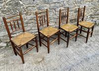Set of 4 Antique Elm Country Chairs (13 of 13)