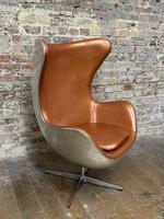 Aviator Leather Swivel Egg Chair (3 of 4)