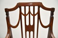 Pair of Antique Edwardian Inlaid  Mahogany Armchairs (11 of 12)