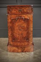 Late Victorian Figured Walnut Bow Front Bedside Cabinets (10 of 17)