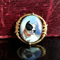 Victorian Enamel Bulldog Brooch (11 of 11)