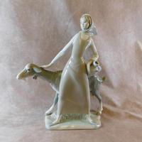 Large Lladro Girl with Goat No.4590