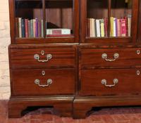 Four Doors Breakfront Bookcase In Mahogany - Early 19th Century (4 of 11)