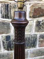 Pair of Antique Mahogany Floor Standard Lamps (2 of 7)