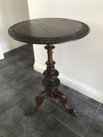 Victorian Burr Walnut Occasional Table with Fantastic Carvings (6 of 6)
