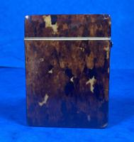 Victorian Tortoiseshell Card Case With Silver Inlay (9 of 13)