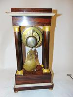 French Charles X Rosewood Portico Clock (9 of 9)