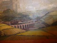 Oil Painting Train Passing Durham Cathedral (4 of 10)